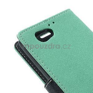 Fancy peňaženkové puzdro na Sony Xperia Z1 Compact - azúrové - 7