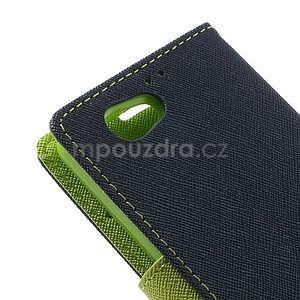 Fancy peňaženkové puzdro pre Sony Xperia Z1 Compact - tmavomodré - 7