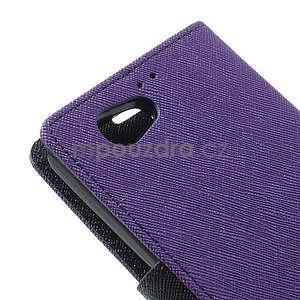 Fancy peňaženkové puzdro na Sony Xperia Z1 Compact - fialové - 7