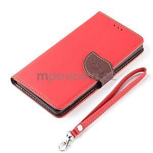 Leaf peněženkové pouzdro na Sony Xperia Z3 Compact - červené - 7