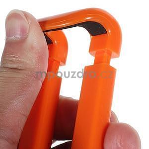 Selfie tyč s automatickým spínačom na rukojeti - oranžová - 7