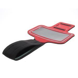 Fittsport pouzdro na ruku pro mobil do rozměrů 143.4 x 70,5 x 6,8 mm - červené - 7