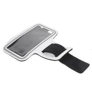 Gym bežecké puzdro na mobil do rozmerov 153.5 x 78.6 x 8.5 mm - biele - 7