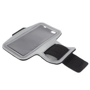 Gym bežecké puzdro na mobil do rozmerov 153.5 x 78.6 x 8.5 mm - šedé - 7