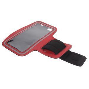 Gym běžecké pouzdro na mobil do rozměrů 153.5 x 78.6 x 8.5 mm - červené - 7