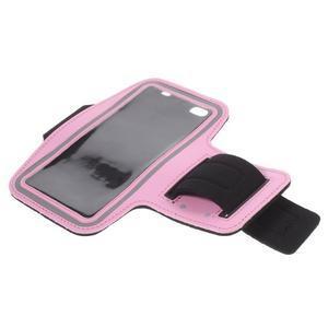 Gym bežecké puzdro na mobil do rozmerov 153.5 x 78.6 x 8.5 mm - ružové - 7