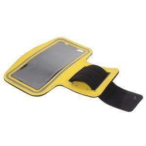 Gym bežecké puzdro na mobil do rozmerov 153.5 x 78.6 x 8.5 mm - žlté - 7