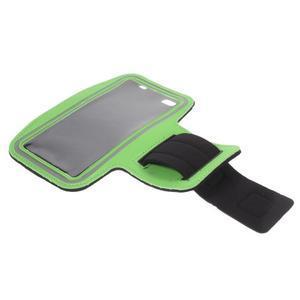 Gym běžecké pouzdro na mobil do rozměrů 153.5 x 78.6 x 8.5 mm - zelené - 7