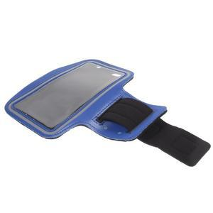 Gym bežecké puzdro na mobil do rozmerov 153.5 x 78.6 x 8.5 mm - modré - 7