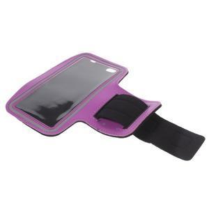 Gym bežecké puzdro na mobil do rozmerov 153.5 x 78.6 x 8.5 mm - fialové - 7
