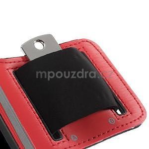 Run bežecké puzdro na mobil do veľkosti 131 x 65 mm - červené - 7