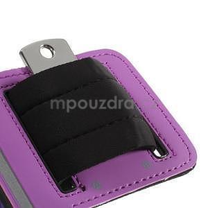 Run bežecké puzdro na mobil do veľkosti 131 x 65 mm - fialové - 7