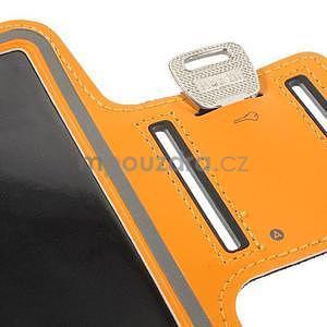 Bežecké puzdro na ruku pre mobil do veľkosti 152 x 80 mm -  oranžové - 7