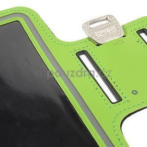 Bežecké puzdro na ruku pre mobil do veľkosti 152 x 80 mm - zelené - 7