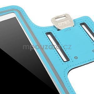 Bežecké puzdro na ruku pre mobil do veľkosti 152 x 80 mm - svetlomodré - 7