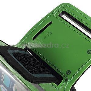 Soft puzdro na mobil vhodné pre telefóny do 160 x 85 mm - zelené - 7