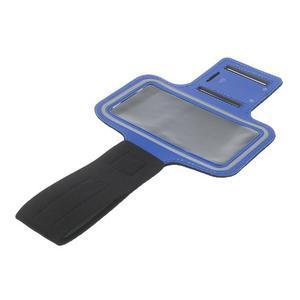 Fitsport puzdro na ruku pre mobil do veľkosti až 145 x 73 mm - tmavomodré - 7