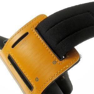 Fitsport puzdro na ruku pre mobil do veľkosti až 145 x 73 mm - oranžové - 7