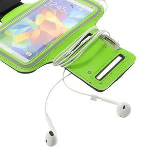 Fitsport puzdro na ruku pre mobil do veľkosti až 145 x 73 mm - zelené - 7