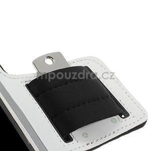 Run bežecké puzdro na mobil do veľkosti 131 x 65 mm - biele - 7