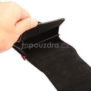 Cloths PU kožené univerzální puzdro do velikosti 155 x 80 x 35 mm - čierné - 7