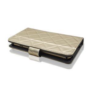 Luxury univerzální pouzdro na mobil do 148 x 76 x 21 mm - zlaté - 7