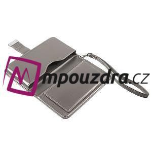 Luxusní univerzální pouzdro pro telefony do 140 x 70 x 12 mm - šedozlaté - 7