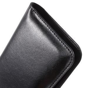 Peňaženkové univerzálne puzdro pre mobil do 140 x 68 x 10 mm - čierne - 7
