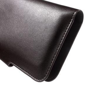 Peňaženkové univerzálne puzdro pre mobil do 140 x 68 x 10 mm - tmavohnedé - 7