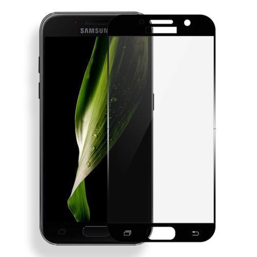 ca5437b13 MLC celoplošné tvrdené sklo na displej Samsung Galaxy A3 (2017) - čierny lem