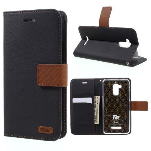 Luxury peňaženkové puzdro pre mobil Asus Zenfone 3 Max - čierne ... 85439277aee