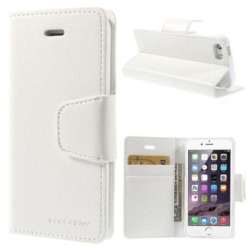 Peňaženkové koženkové puzdro pre iPhone 5s a iPhone 5 - biele - 1. Loading  zoom e7b6820f0ad