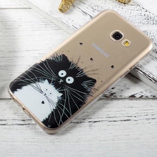 GX slim gélový obal pre mobil Samsung Galaxy A3 (2017) - kocúr ... c81027f51e2