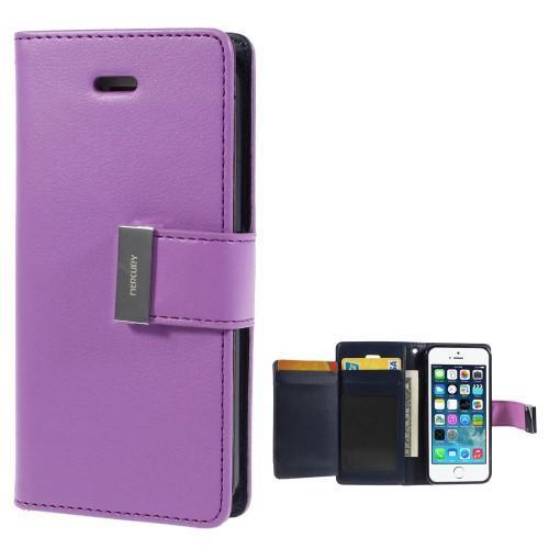 Rich diary PU kožené puzdro pre iPhone SE   5s   5 - fialové ... ebef49d5128