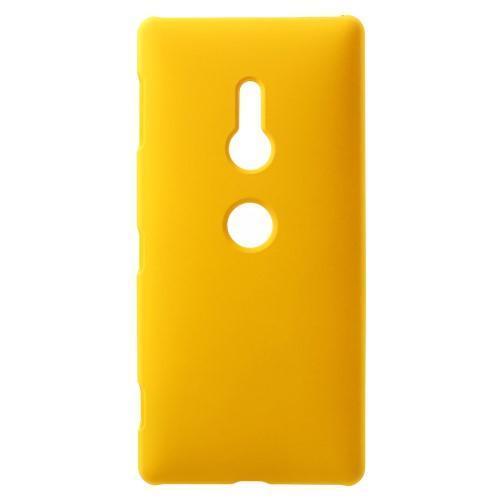 c52cb727831 Rubbi pogumovaný plastový obal na Sony Xperia XZ2 - žlutý - Mpuzdra.sk