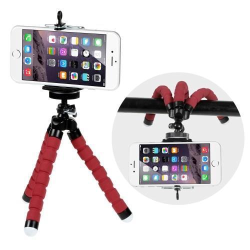 1ed018fff Trojnožkový stativ pre mobilné telefony - červený - Mpuzdra.sk