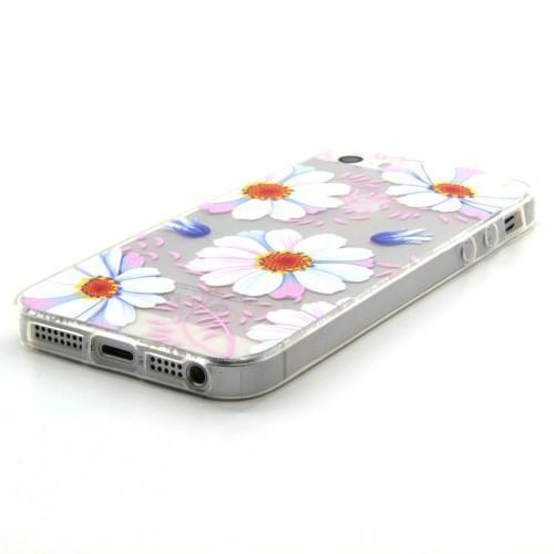Transparentný gélový obal pre mobil iPhone SE   5s   5 - kvetinky ... 410b50feb7a