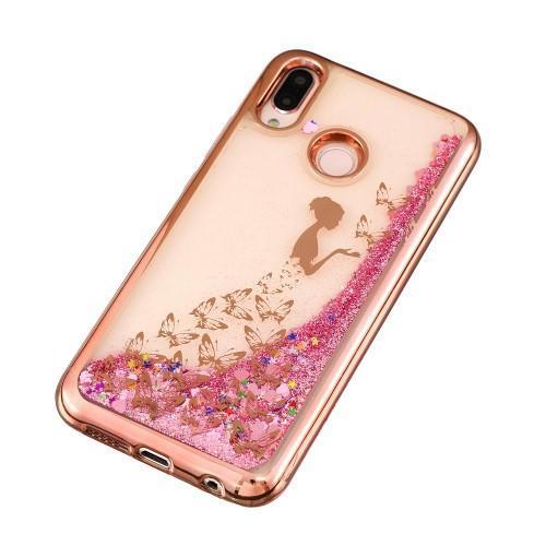 Glitter trblietavý presýpací gélový obal na mobil Huawei P20 Lite -  rozprávkové motýle - 3 f06fdfeb31d